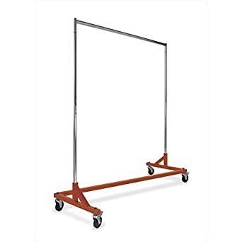 Commercial Garment Rack (Z Rack) - Rolling Clothes Rack, Z Rack With KD Construction With Durable Square Tubing, Commercial Grade Clothing Rack, Heavy ...