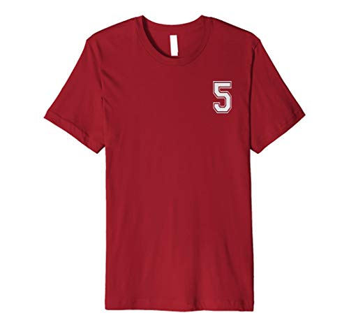 #5 Numbered Team Jerseys Shirt Big # on back Youth or Adult