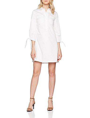 Tommy Hilfiger Damen Kleid Hagar Dress 3/4 SLV, Weiß (Classic White 100)