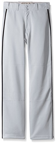 Easton Boys Mako II Piped Pants, Grey/Black, X-Large