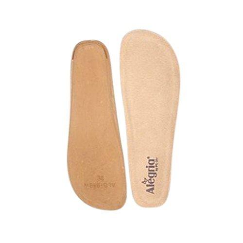 Regular Insole - Alegria Women's Wedge Footbed - Wide Tan Insole 39 (US Women's 9-9.5) Regular