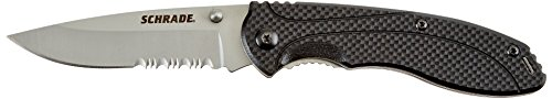 Schrade SCH106S Liner Lock Partially Serrated Folding Knife