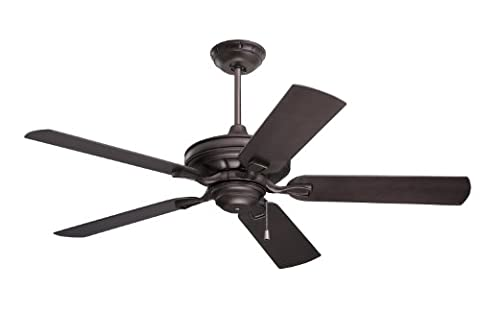 Emerson Ceiling Fans CF552ORB Veranda 52-Inch Indoor Outdoor Ceiling Fan, Wet Rated, Light Kit Adaptable, Oil Rubbed Bronze - Emerson Indoor Fans