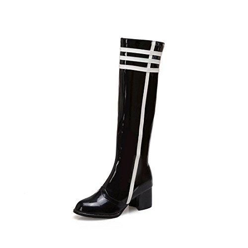 Sandalette-DEDE Botas Altas, Botas de Moda, Tacones Altos, Colores Altos, Botas de Mujer, Botas Altas de Tubo. black