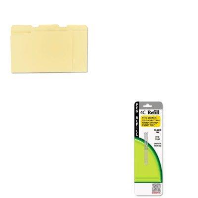 KITUNV12113ZEB85612 - Value Kit - Zebra Refill for 4C Pocket Pen (ZEB85612) and Universal File Folders (UNV12113) (4c Pocket Pen)