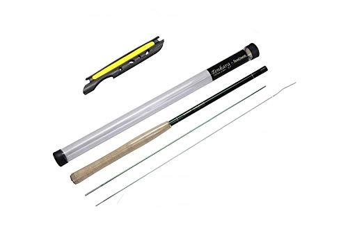 Seaquest Tenkara Rod 12ft Portable Carbon Fiber Fly Fishing Rod with Storage Tube 12' Slide Top Feeder