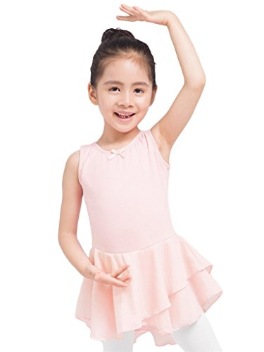 Dancina Girls Leotard Tank Top Dress Full Front Lining 4 Ballet Pink