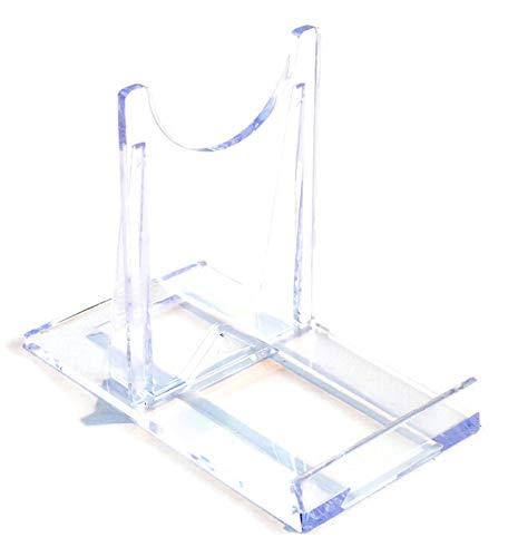 Display Stand : Medium Sliding Clear Plastic : 7.5cm, 3