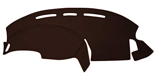 Custom Dash Cover Mat - Compatible with 1997-2003 Ford Pick-up F-150 W/O Light Sensor (Carpet, Brown)