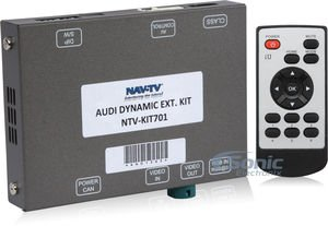 NAV-TV AUDI DYNAMIC-EXT (NTV-KIT701) Backup Camera Integration Kit for select 2009-2016 Audi Vehicles with MMi controls on console, not vertical radio face ()