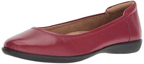 Naturalizer Women's Flexy Ballet Flat, red, 8.5