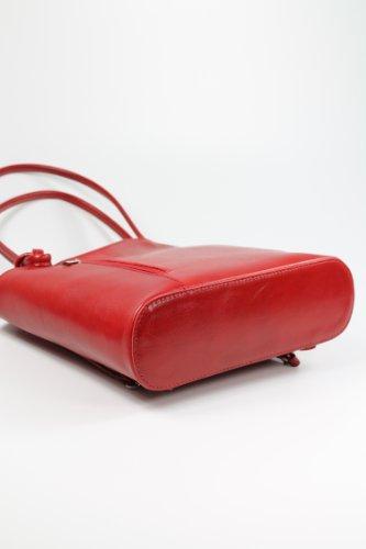"""Belli® Italiana. Piel Bolso """"Belli Backpack Selección de Colores de piel, también en la espalda portátil–28x 28x 8cm (B X H X T) rojo - rojo"""