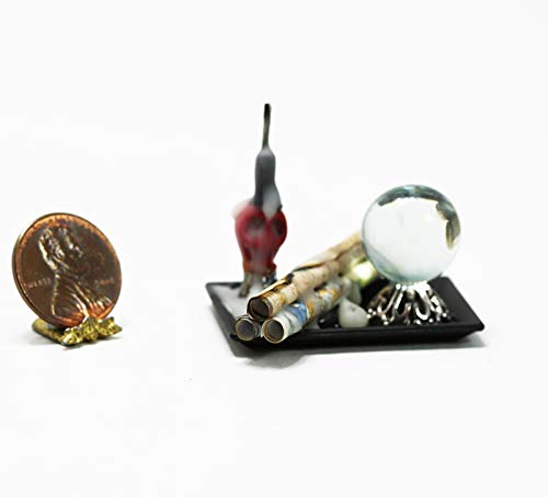 Dollhouse Miniature 1:12 Scale Halloween Tray of Witch Accessories