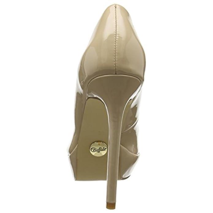 Scarpe E Borse Da Donna Col Tacco Buffalo C228a-1 New P2010f Pu Patent Con Plateau