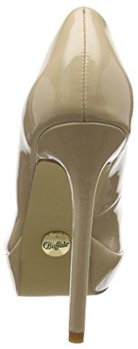 Beige Buffalo New Escarpins Nude PU C228a P2010f à 01 Femme Plateforme Patent 1 wvZ6qwg