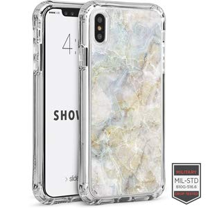 (Cellairis Aero Case for Apple iPhone Xs Max - Showcase Clear Marble Luna White)