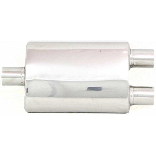 Kool Vue KV150117 High Performance Oval Muffler With Dual Outlet for 86-89 Acura Integra