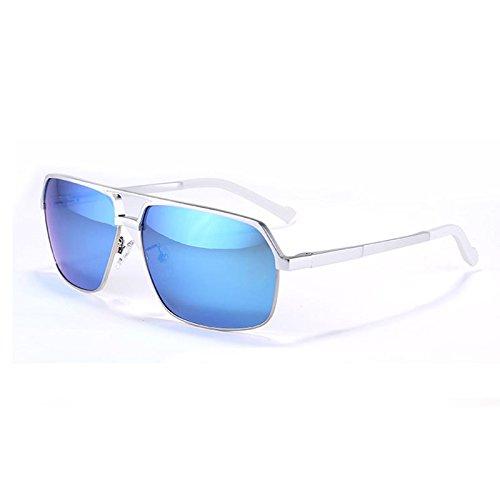 sol de Argento Riflettente lo Guía de gafas TIANLIANG04 UV400 Revestimiento hombres aluminio tanto magnesio y gafas Anti plata de Por polarizadas sol C1wIv