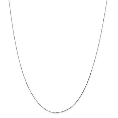 14kt White Gold .70mm Octagonal Snake Chain; 30 inch (Solid Octagonal Snake)