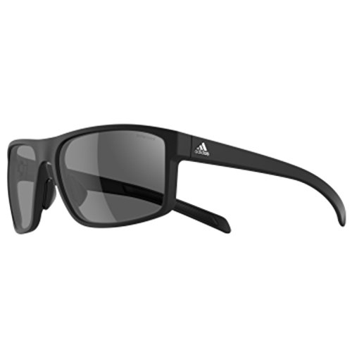 adidas Mens Whipstart a423 6059 Polarized Rectangular Sunglasses, Black Matte, 61 - Adidas Sunglasses