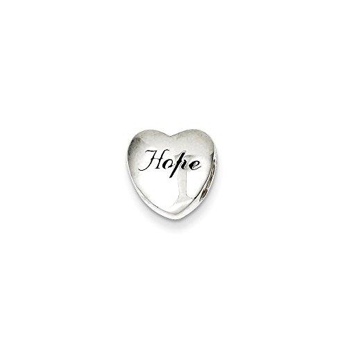 Goldia Sterling Silver Enameled Hope Heart Slide