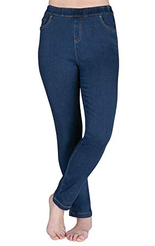 PajamaJeans Women's Skinny High-Waist Stretch Jeans, Bluestone Wash, XLG 16-18 ()