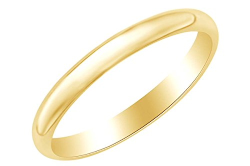 Hip Hop 4mm Men's Wedding Band Ring In 14k Solid Yellow Gold Ring Size-10 by AFFY