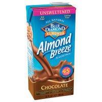 Blue Diamond Unsweetened Chocolate Almond Breeze Almond Milk, 32 Ounce (Pack of 12)
