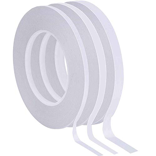 Hicarer 3 Rolls Double-Sided Tape Adhesive Sticky Tapes 2 Sided Tape for Scrapbook, Photos Wall, DIY Craft Projects, Each Roll 39.4 Yards, 1/4 inch, 1/3 inch, 1/2 inch Wide
