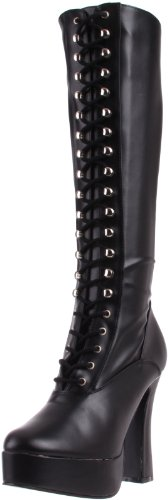 Pleaser Leather Polacchine Faux Donna 2023 Nero Electra Str Blk HHqfrFw