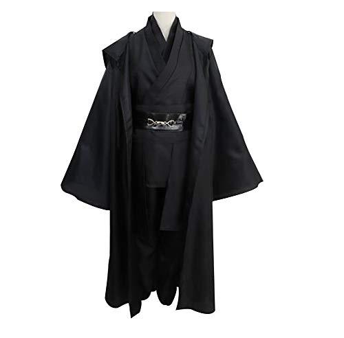 (Halloween Party TV Series Anime Cosplay Cloak Jedi Sith Costume Black,XXXL)