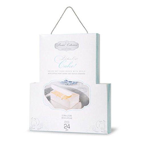 Dot Wedding Cake - David Tutera 24 Cake Box with Swiss Dot and Silver Seal