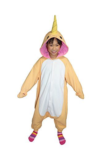 [Narwhal Kigurumi (5-9 Years, Orange)] (9 To 5 Costumes)