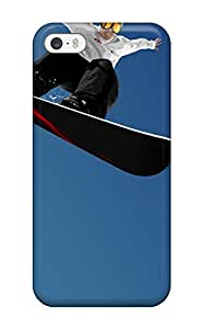 AnnaSanders Case Cover For Iphone 5/5s - Retailer Packaging Snowboard Jump Winter Snow Sport Sky Blue White Black Red Protective Case