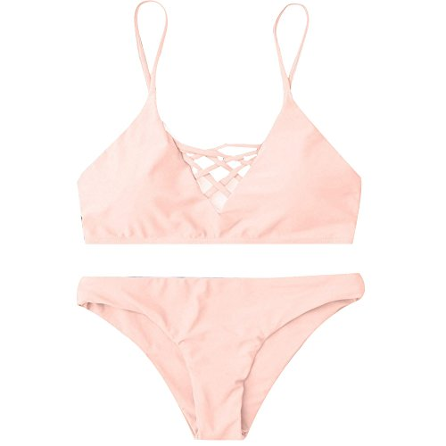 DIOMOR INS Hot Item Swimwear Women Bikini Set Bandage Push-Up Swimsuit Bathing Beachwear Valentine's Day Pink