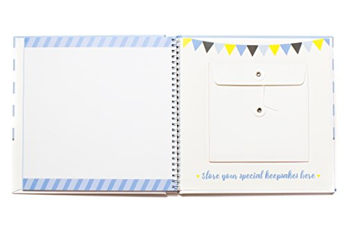 First Year Baby Memory Book & Baby Journal (3 Color Styles Available). Perfect for Boys or Girls Baby Shower Gift. First 5 Years Scrapbook, Keepsake & Photo Journal. Unisex, Blue by LovelySprouts (Image #7)