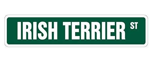 Irish Water Terrier (Cortan360 IRISH TERRIER Street Sign dog lover great Ireland pet| Indoor/Outdoor | 8