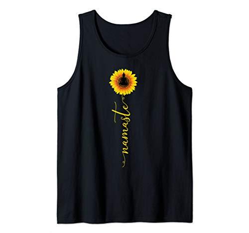 Namaste Sunflower Yoga Trendy Hippie Buddha Meditation Gift Tank Top