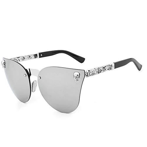 Skull Hombre Sol Sol Gafas silver De Frame De Dorado Metal Sol FKSW Sol De Gafas Gafas Gafas De qUw0P7