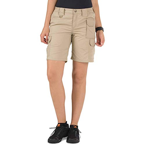 (5.11 Tactical Women's Taclite Pro 9-Inch Shorts, Ripstop Fabric, Adjustable Waistband, Style 63071)