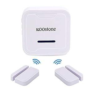 Koostone Wireless Magnetic Door Entry Sensor Alarm Chime, Door Open Alert for Shop, Garage, Window Security for Kids…
