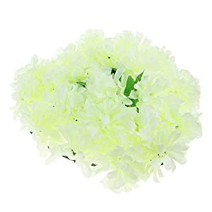 Baoblaze Artificial Chrysanthemum Heart Wreath Funeral Memorial Aisle Main Road Flower Pillar 7