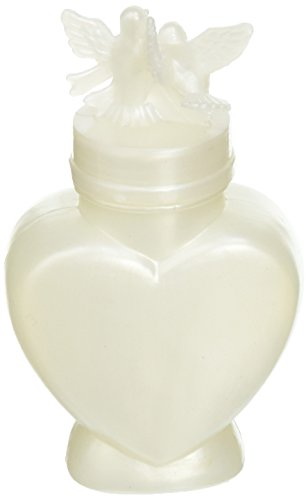 Darice Heart Shaped Bottle Wedding Bubbles - Perfect Way to Greet The Newly Married Couple - Great Wedding Favors - Safe for The Environment - Fun for Guests of All Ages, 24 Pieces Per Pack