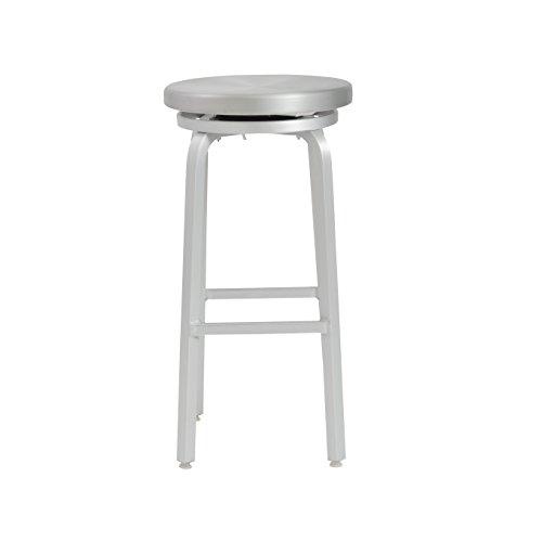 - Euro Style Miller Bar Height Swivel Stool, Aluminum