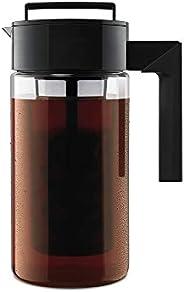 Cafeteira Patenteada Takeya Deluxe para bebidas frias, 1 litro, preta