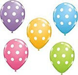 12 Polka Dot Balloons Bright Festive Colors (Assorted Colors)