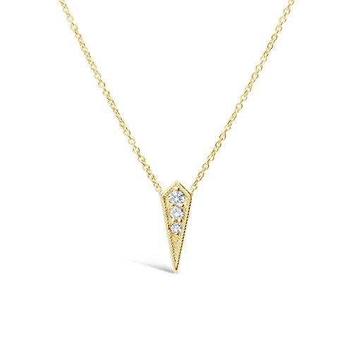 Gold Kite 14k (James Free Diamond Kite Necklace with14kSolidYellowGold Chain (0.05cttw),16