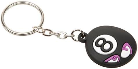 Magideal Caucho Cute expresión bolas de billar diseño clave cadena llavero regalo recuerdo de recuerdos, 5 Números para elegir: Amazon.es: Juguetes y juegos