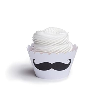 Para vestidos My Cupcake con bigote para cupcakes, juego de 12