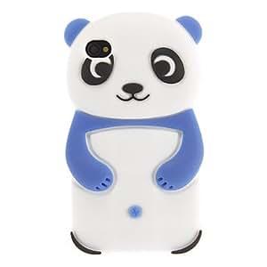 conseguir Caso encantador de la panda del estilo de silicona protectora para el iPhone 4/4S (Assoited color) , Rose